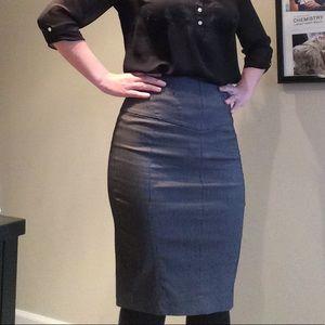 Express blackw/ white pin stripe pencil skirt